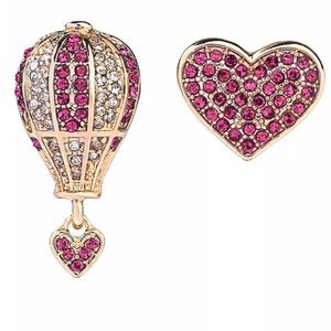 NEWBetsey Johnson Hot Air Balloon & Heart Earrings